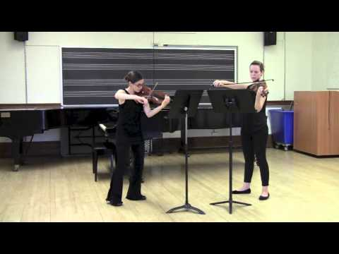 Bartok - 44 Duos for Two Violins, # 33 - Song of the Harvest