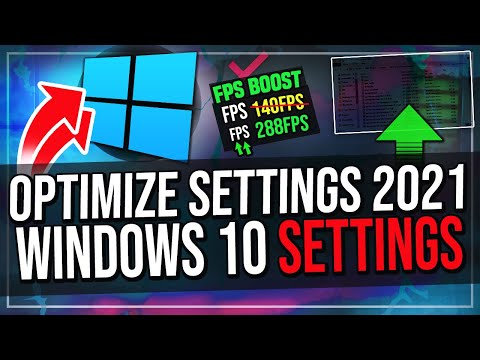 How To Optimize Windows 10 For Gaming (2021) Increase FPS And Performance!