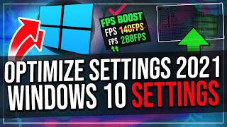 How To Optimize Winḋows 10 for Gaming (2021) Increase FPS and Performance!