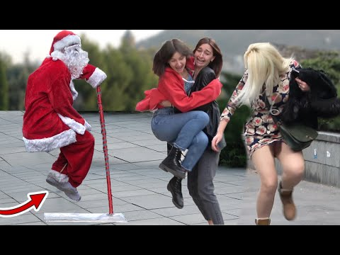 THE FLOATING SANTA SCARY PRANK - Best of Just For Laughs