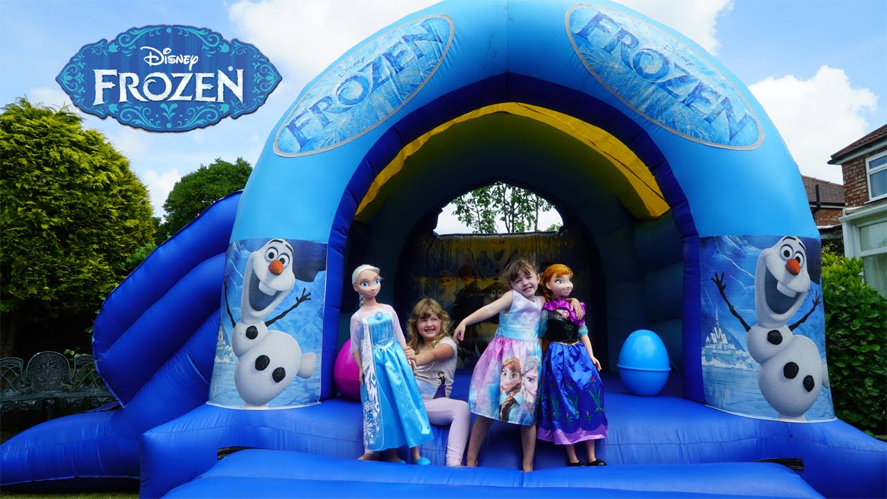 Frozen Elsa And Anna Life Size Dolls Playing Outside