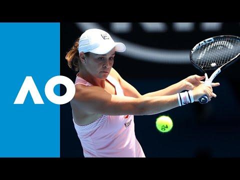 Maria Sharapova v Ashleigh Barty second set highlights (4R) | Australian Open 2019