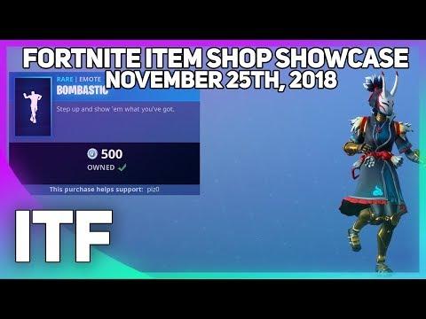 Fortnite Item Shop *NEW* BOMBASTIC EMOTE! [November 25th, 2018] (Fortnite Battle Royale) thumbnail