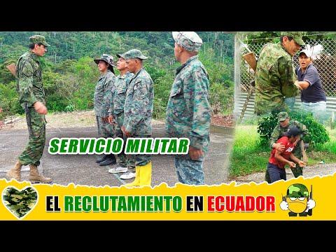 Reclutamiento la servicio militar en mi ecuador!