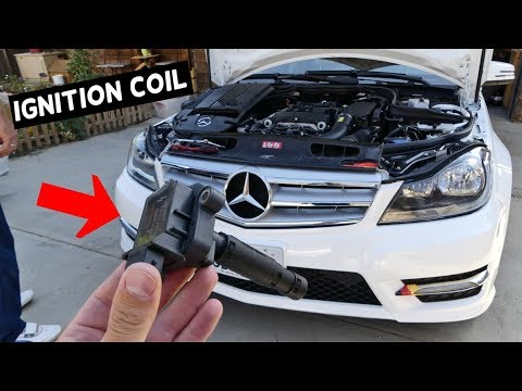 HOW TO REPLACE IGNITION COIL ON MERCEDES C180 C200 C220 C250 W204