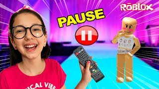 ROBLOX-PAUSE CHALLENGE WITH MY MOTHER (Fashion Famous) | Luluca Games