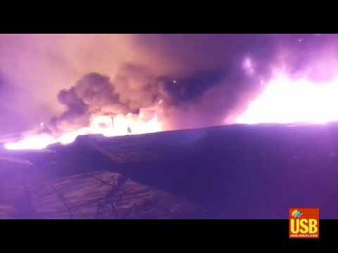 San ferdinando (RC) 26 01 2018 incendio nella tendopoli
