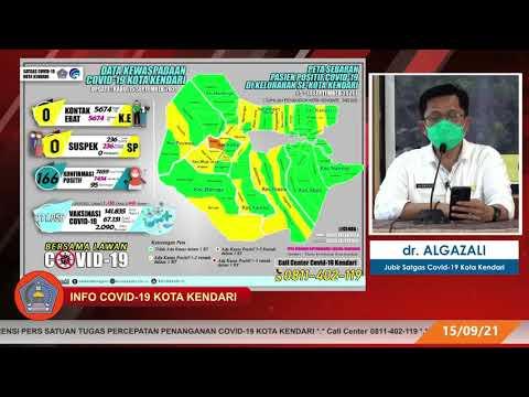 Info Covid-19 Kota Kendari, Rabu, 15 September  2021.