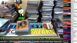 Midwest Box Breaks Topps Series 2 Baseball Pick Your Team Break #2