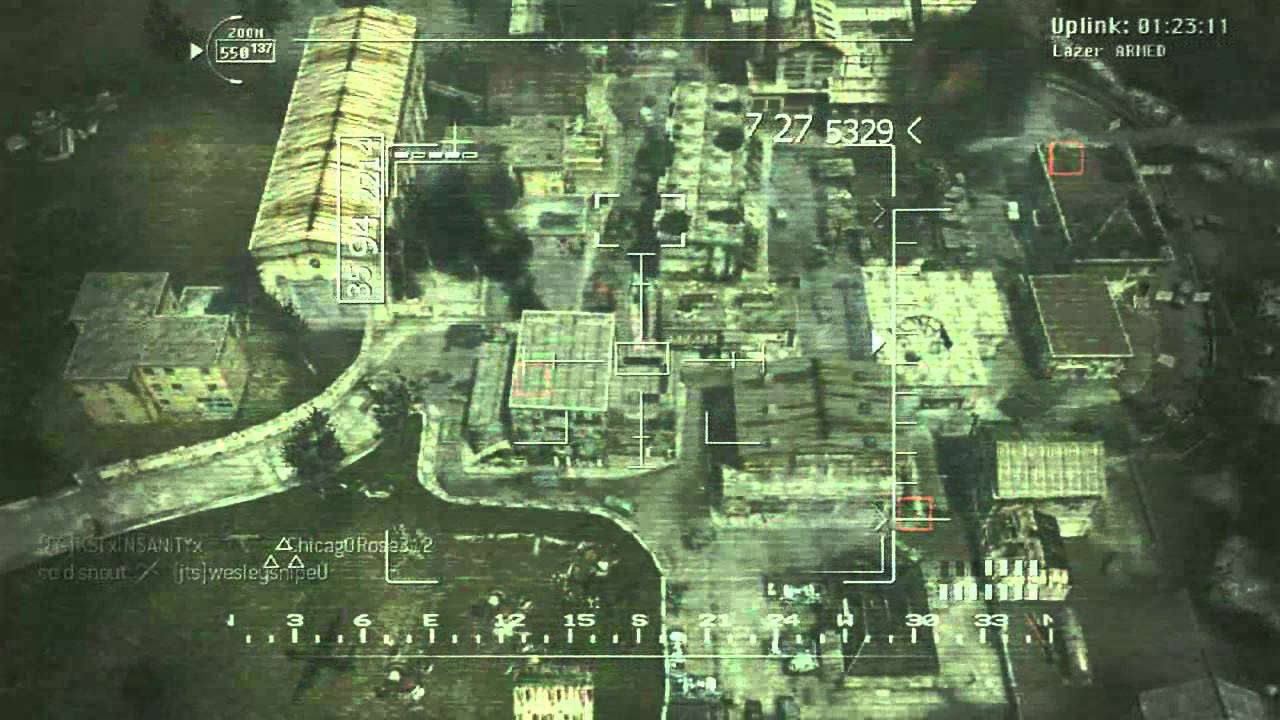 MW3 Game Clip Remotely Piloted Predator Drone Firing Guided Hellfire Missiles