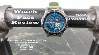 Watch Face Review : Solo Panamera Galaxy Watch Gear S3