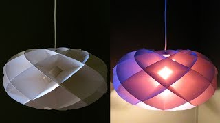 Torus pendant light DIY - how to make a torus lamp/lantern - EzyCraft