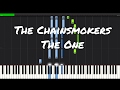 The Chainsmokers   The One Piano Tutorial