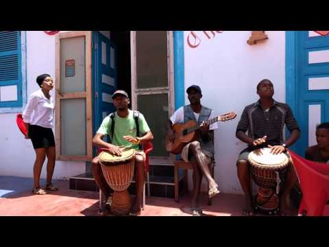 Cape Verde - Chaminé Cafe Sal Rei - Local Live Music - April 2016