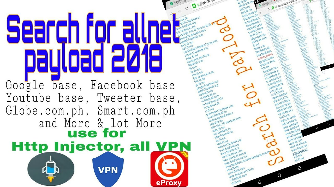 How to Search Payload for all network, use for Injector and