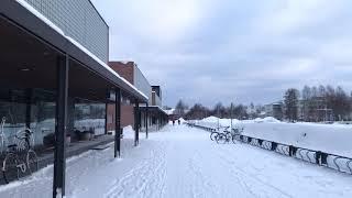 Winter in Joensuu, Finland