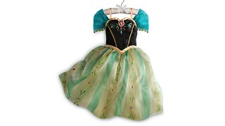 FROZEN PRINCESS ANNA DISNEY STORE DRESS REVIEW Disney Princess Elsa Anna Olaf
