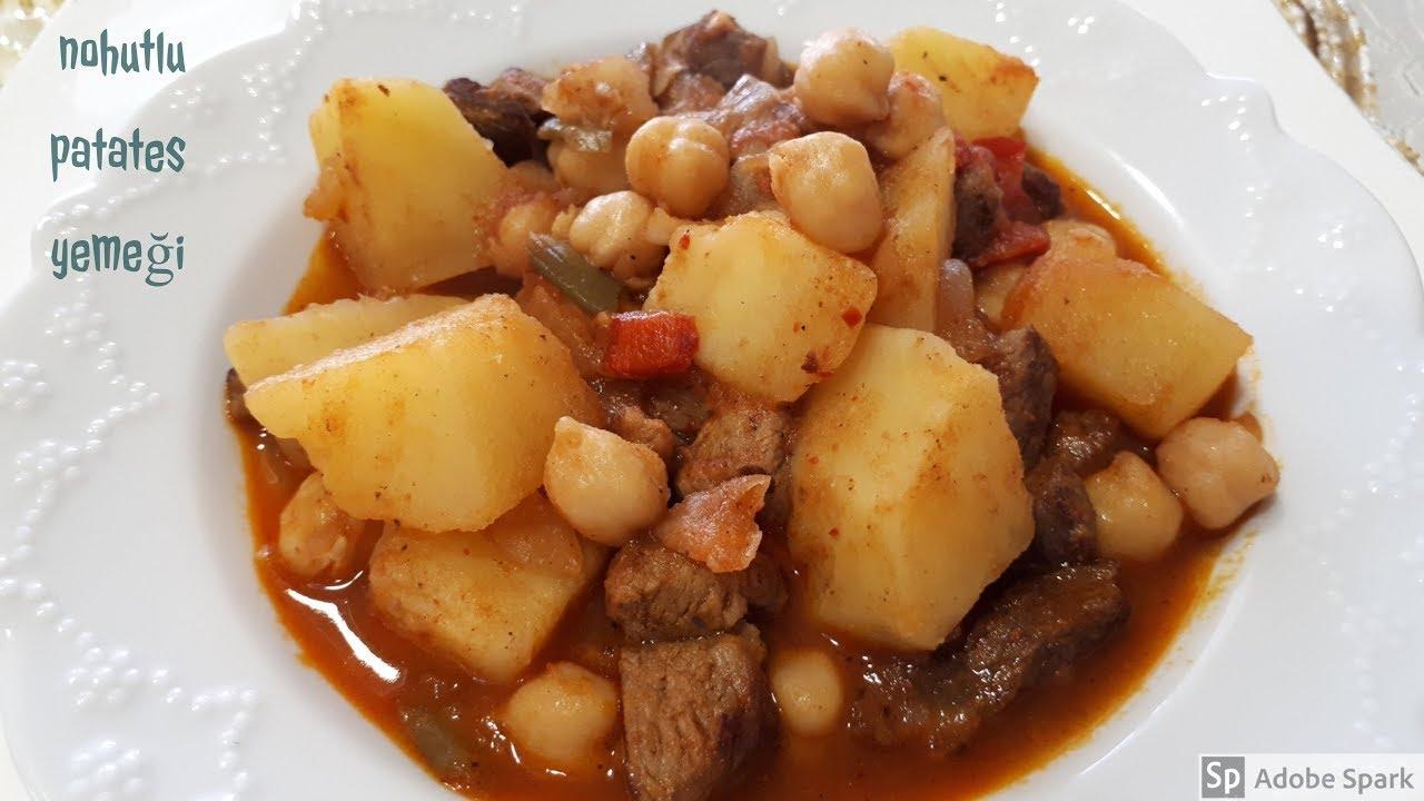 Etli Nohut Yemegi Pirinç Pilavı Tarifi(aksam yemegi önerisi)