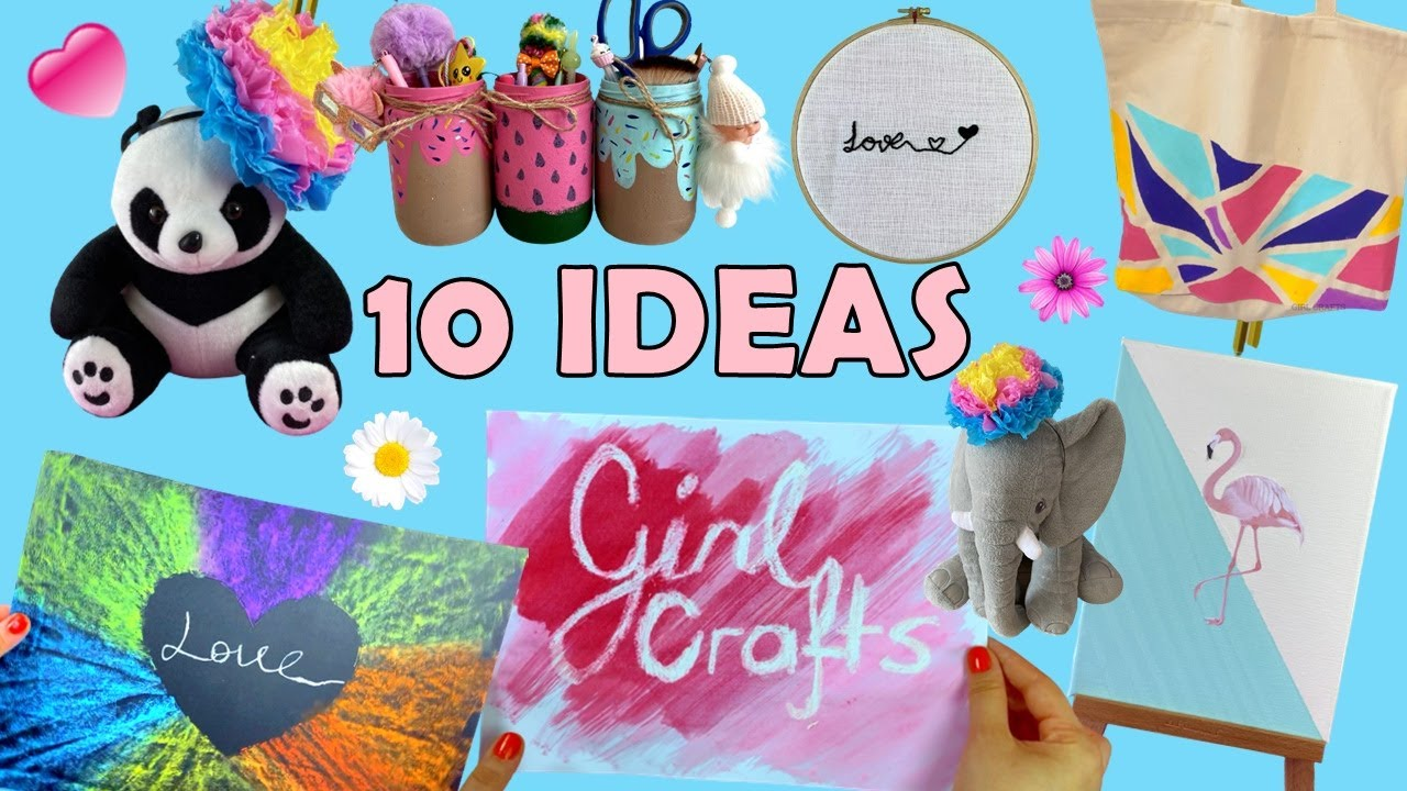10 SUPER EASY ART and CRAFT IDEAS YOU WANT TO TRY