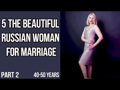 Top 5 most beautiful Russian women from 40 to 50 Part 2