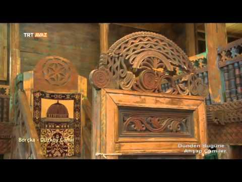 borçka düzköy camii  artvin  ahşap camiler  trt avaz