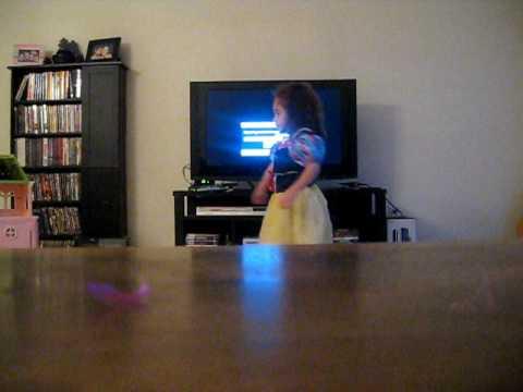 Amaya imitating Sandy from Spongebob