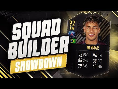 FIFA 18 SQUAD BUILDER SHOWDOWN!!! - OTW NEYMAR!!