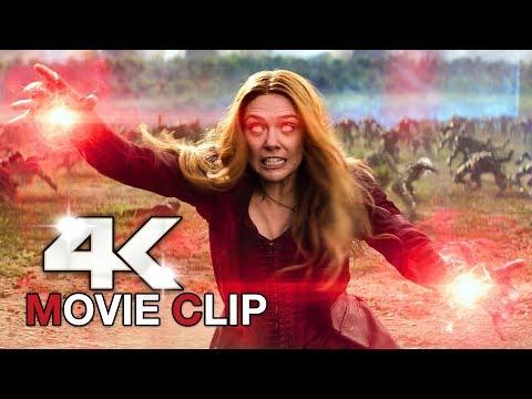 AVENGERS INFINITY WAR Scarlet Witch Wakanda Fight Scene Clip + Trailer (4K ULTRA HD) 2018 thumbnail