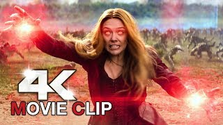 AVENGERS INFINITY WAR Scarlet Witch Wakanda Fight Scene Clip + Trailer (4K ULTRA HD) 2018