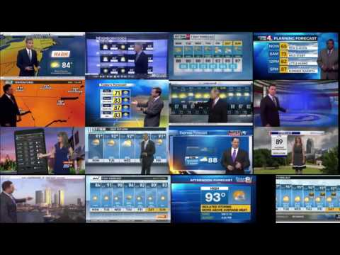 Today Show weather From 16 stations at Same Time (July 11, 2016)