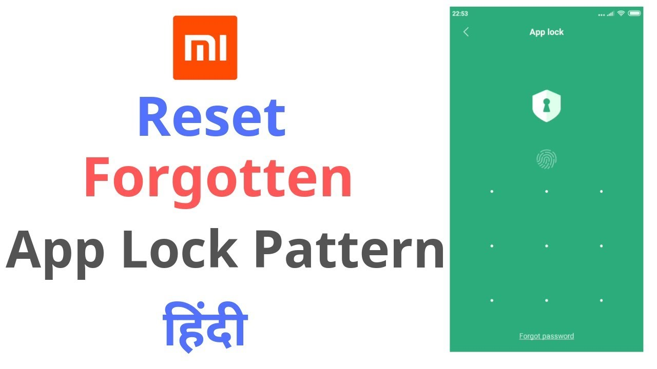 Forgot The App Pattern Lock In Redmi Note 4 Note 5 Solution