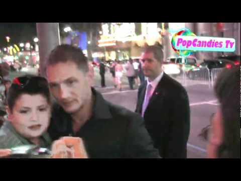 Tom Hardy and Charlotte Riley leaving Inception Premiere in Hollywood