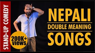 Nepali Double meaning songs | Nepali Stand Up Comedy | Rosan Subedi