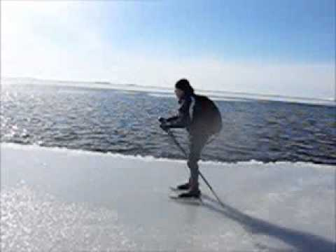 Archipelago Sea, Finland, Wintertime - Nordic Tour Skating on Sea Ice
