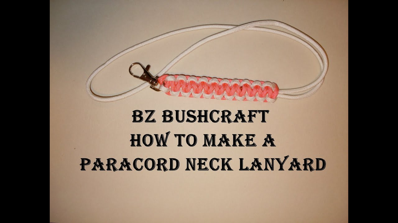 How to make a paracord neck lanyard youtube for How to make a keychain out of paracord