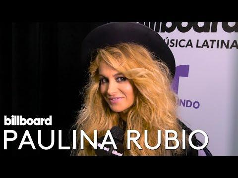 Paulina Rubio Interview | Backstage at Latin Music Awards 2016