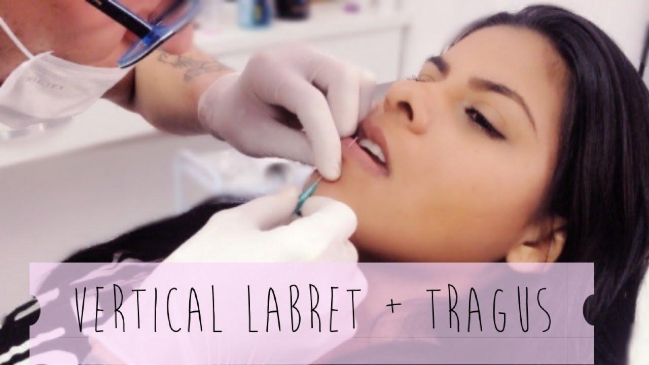 Furando Vertical Labret E Tragus Piercing Youtube