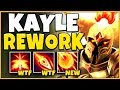 *NEW REWORK* KAYLE IS NOW AN AP ASSASSIN (RIOT HAS LOST IT) - League of Legends