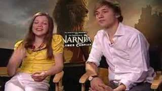 Georgie Henley William Moseley interview for Prince Caspian