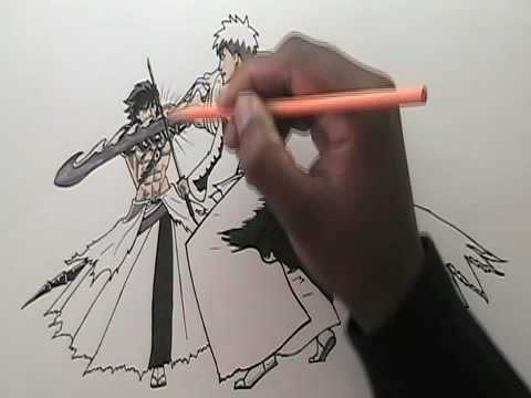 How to draw Anime fight scene PART 3 - YouTube