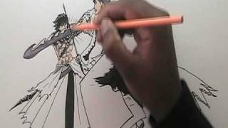 How to draw Anime fight scene PART 3