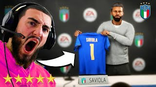 PEP SAVIOLA BECOMES ITALY WORLD CUP MANAGER FIFA 21 MANAGER CAREER MODE 7