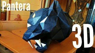 Cómo hacer una Pantera Negra 3D con cartulina paso a paso bien explicado | Papercarft