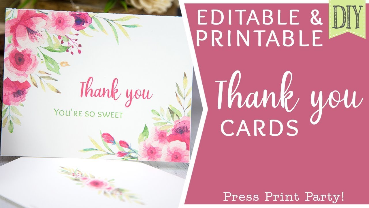 This is a graphic of Printable Thank You Cards with color