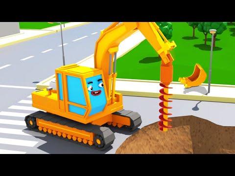 Eğitici Çizgi Film Çocuk Için - Ekskavatör POL ve Şehirdeki Süper Oyunlar - Türkçe Izle