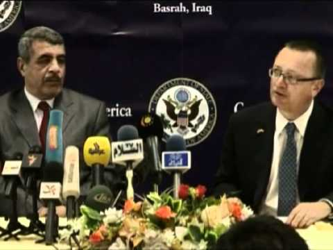 Asst. Sec. Feltman, Amb. Jeffrey Hold Conference With Basra Governer Samad and Chancellor Campbell