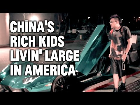 Wealthy Chinese children flaunt supercars in secret meet-ups in the US