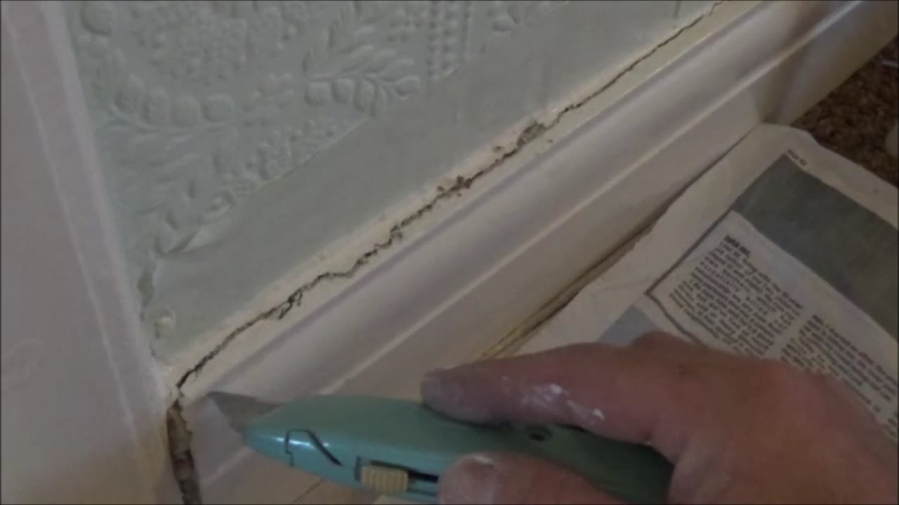 Cracks Along Skirting Boards Solve Permanently Youtube