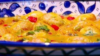 كفتة الدجاج بصلصة الزيتون والليمون - ديما حجاوي