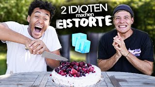 2 IDIOTEN backen EISTORTE ! 🧊🍰 mit @Joey's Jungle